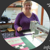 customer beth with nolting pro longarm machine