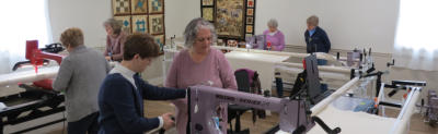 longarm class at delightful quilting & sewing avon ny