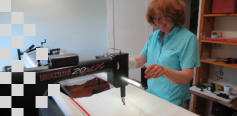 Nancy learning to use her Pro 24 Nolting longarm